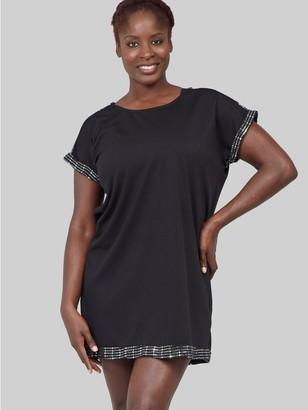 M&Co Izabel Curve sequin trim shift dress