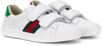Gucci Kids Web double strap sneakers