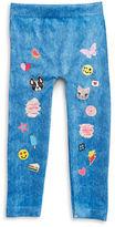 Capelli New York Girls 2-6x? Emoji and Denim Print Leggings