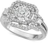 Macy's Diamond Openwork Square Halo Engagement Ring (1-1/5 ct. t.w.)