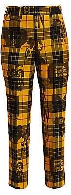 Comme des Garcons Women's Layered Print Tartan Pants