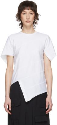 Comme des Garçons Comme des Garçons White Diagonal Stitch T-Shirt