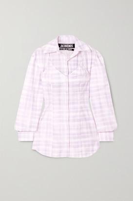 Jacquemus Valensole Cutout Checked Cotton Shirt - Lilac