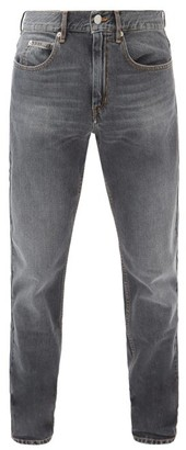 Isabel Marant Jack Washed Slim-leg Jeans - Dark Grey
