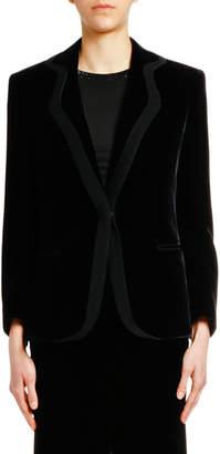 Giorgio Armani Velvet Jacket with Satin Trim