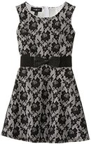 Amy Byer Big Girls' Lace Dress with Bow At Waist