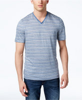 Michael Kors Men's Classic-Fit Striped V-Neck T-Shirt
