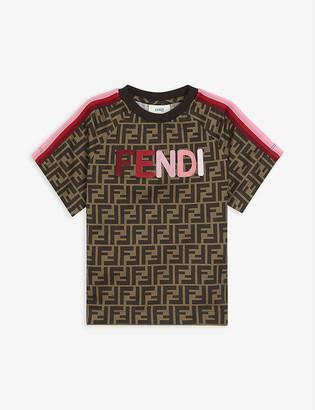 Fendi Monogram logo-detail cotton T-shirt 4-14 years