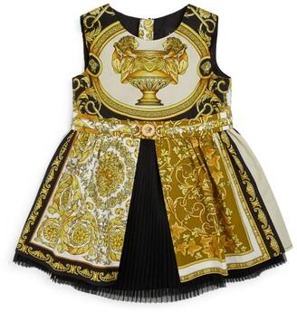 Versace Kids Barocco Mosaic Print Dress (6-36 Months)