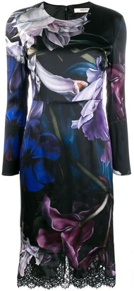 Roberto Cavalli Marchito print long-sleeved dress