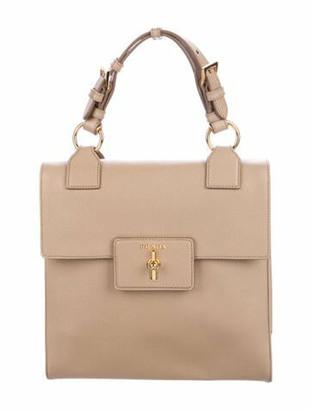 Prada Saffiano Lux Top Handle Bag Sabbia