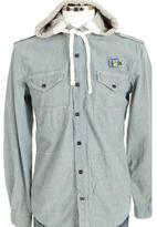 Gio-Goi Schwin Hooded Shirt Indigo Blue