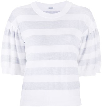 Malo Striped Knitted Top