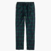 J.Crew Flannel pajama pant in Black Watch plaid