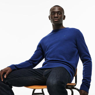 Lacoste Men's Crew Neck Double Wool And Cashmere Pique Sweater
