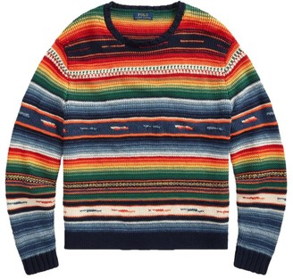 Polo Ralph Lauren Long-Sleeve Striped Cotton-Blend Sweater
