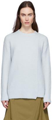 Acne Studios Blue Alpaca and Wool Asymmetric Hem Sweater