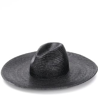 Saint Laurent Wide Brim Woven Hat