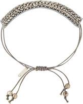 Pink Pewter Silver Drawstring Bracelet