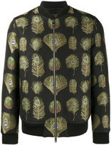 Alexander McQueen peacock print bomber jacket - men - Cotton/Polyester/Spandex/Elastane/Goose Down - 48