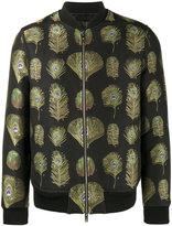 Alexander McQueen peacock print bomber jacket