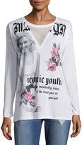 Freeze Long Sleeve V Neck Graphic T-Shirt