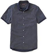 Michael Kors Slim-Fit Dot-Printed Short-Sleeve Woven Shirt