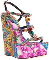 Dolce & Gabbana printed wedge sandal