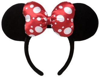 Disney Minnie Mouse Satin Polka Dot Bow Ear Headband