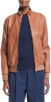 Loro Piana Reversible Storm System®; & Leather Bomber Jacket