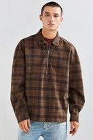 Urban Outfitters 1/4-Zip Plaid Flannel Over Shirt
