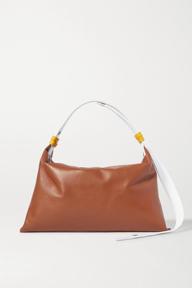 Simon Miller Puffin Two-tone Leather Shoulder Bag - Tan