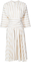 Tome stripe cinched dress - women - Cotton - 0