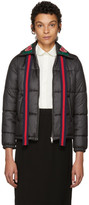 Gucci Black Quilted Embroidered Jacket