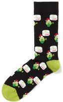 Tu clothing Black Christmas Brussel Sprout Fan Socks