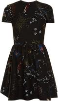 Valentino Astrocouture round-neck crepe mini dress