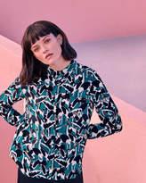 Ted Baker Crane print silk shirt