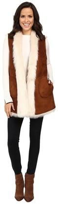 Andrew Marc Women's Sasha Faux Fur Long Vest