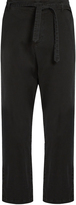 Nili Lotan Stockholm cotton-blend twill cropped trousers