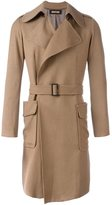 Nuur belted patch pockets coat