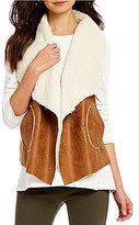 Westbound Petites Faux-Fur Dual Pocket Vest
