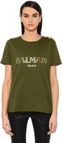 Balmain T-Shirt En Jersey De Coton
