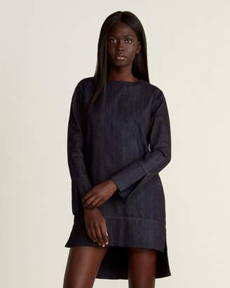 Marni Denim High-Low Mini Dress