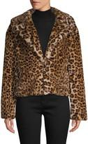 C&C California Leopard-Print Faux Fur Jacket