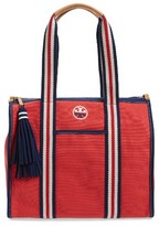 Tory Burch Preppy Canvas Tote - Red