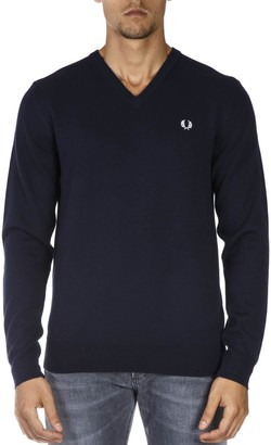 Fred Perry Blue Wool Sweater