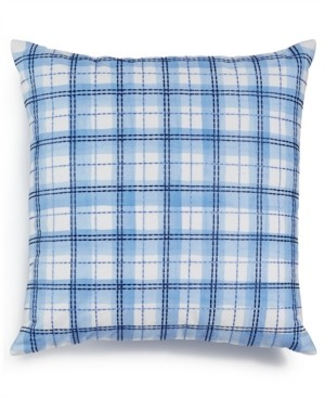 "Charter Club Damask Designs Embroidered 18"" x 18"" Decorative Pillow, Only at Macy's Bedding"