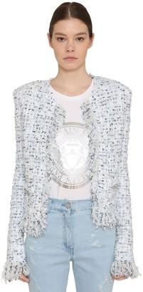 Balmain Fringed Lurex Tweed Jacket