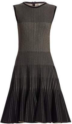 Oscar de la Renta Sleeveless Ribbed Dress