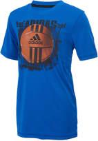 adidas Basketball-Print T-Shirt, Little Boys